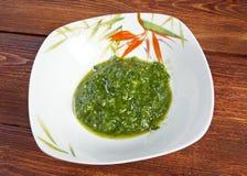Pesto alla Genovese, basilu kumberland Zdjęcia Royalty Free