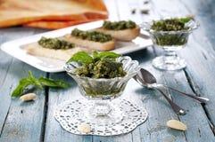 Pesto with almond Stock Image