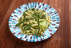 Pesto bedriegt patate fagiolini Royalty-vrije Stock Afbeelding