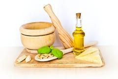 Pesto Bestandteile Stockbilder