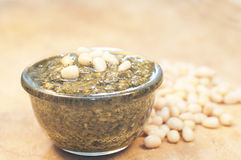 Pesto and cedar nuts Stock Image