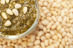 Pesto on cedar nuts Stock Image