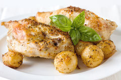 Pesto chicken breasts Royalty Free Stock Images