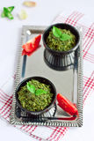 Pesto de basilic Photographie stock