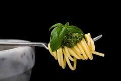 Pesto del al del espagueti Imagen de archivo