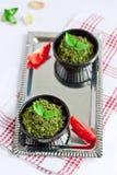 Pesto del basilico Fotografia Stock