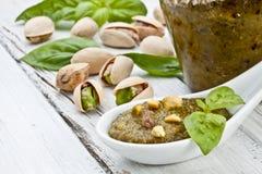 Pesto del pistacchio fotografia stock
