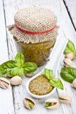 Pesto del pistacho Fotos de archivo libres de regalías