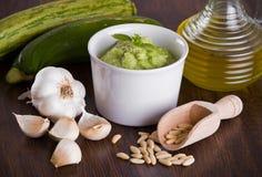 Pesto dello zucchini. Fotografia Stock Libera da Diritti