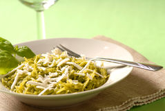 Pesto dinner stock images