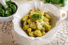 Pesto gnocchi Royalty Free Stock Image