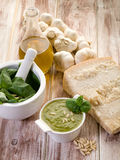 Pesto ingredients Royalty Free Stock Image