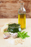 Pesto with ingredients Stock Photo