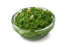 Pesto italiano della salsa Fotografie Stock