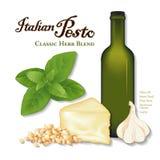 Pesto italiano, Herb Blend clássico ilustração royalty free