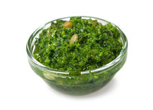 Pesto italien de sauce Photos stock