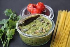Pesto Jalapeño с семенами тыквы Стоковые Изображения RF