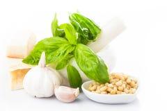 Pesto kumberlandu składniki obraz stock