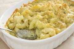 Pesto Mac & Cheese Stock Photography