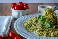 Pesto makaron Zdjęcia Stock