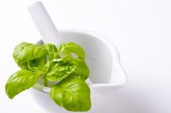 Pesto  and mortar Stock Photos