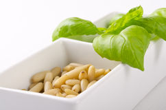 Pesto  and mortar Stock Images