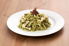Pesto with Mushrooms. On a table Stock Image