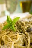 Pesto pasta royalty free stock images