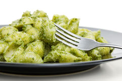 Pesto pasta Stock Photo
