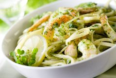 Pesto Pasta Royalty Free Stock Images