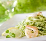 Pesto Pasta Royalty Free Stock Photos