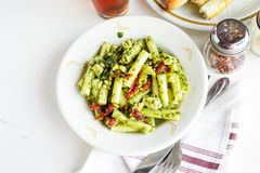 Pesto pasta Stock Photos