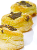 Pesto pastry puffs Royalty Free Stock Image