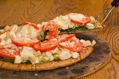 pesto pizzy szpinaka pomidor Obraz Stock