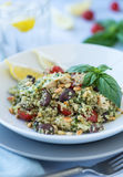 Pesto Quinoa Salad Stock Image