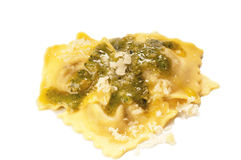Pesto ravioli  Stock Images