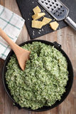 Pesto risotto Stock Image