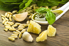 Pesto sauce Royalty Free Stock Images