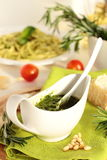 Pesto sauce. Royalty Free Stock Photography