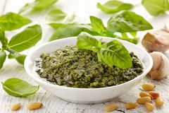 Pesto sauce Royalty Free Stock Photo