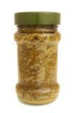 Pesto sauce in glass jar Stock Image