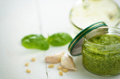 Pesto sauce Stock Photo