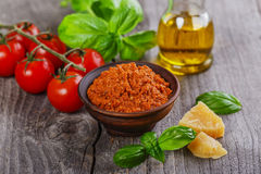 Pesto sauce red rosso Stock Images