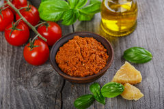 Pesto sauce red rosso Stock Photo