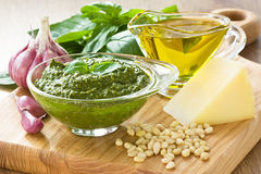 Pesto sause Stock Photos