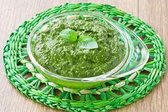 Pesto sause Stock Photography