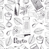 Pesto seamless pattern Royalty Free Stock Image
