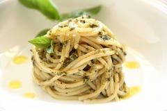 pesto spaghetti Obraz Stock