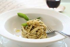Pesto Spaghetti Royalty Free Stock Image