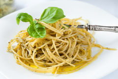 Pesto Spaghetti Stock Image
